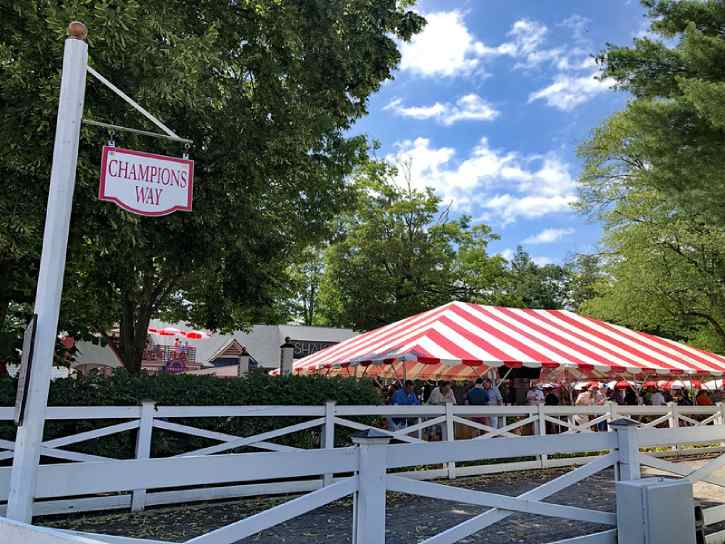 champions way at the saratoga race course