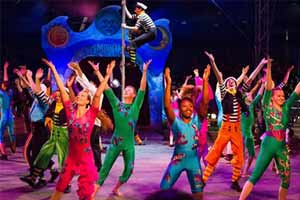 circus kids performing