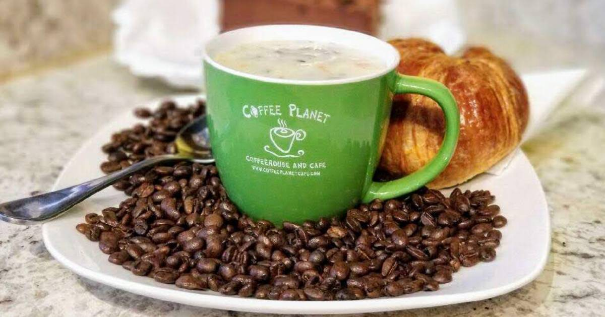 green Coffee Planet cup