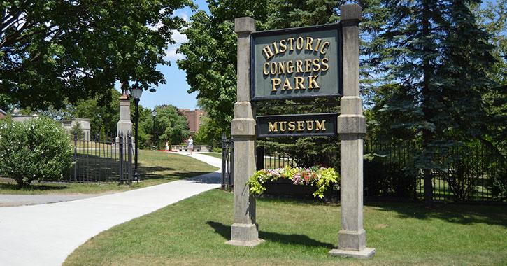 congress park sign