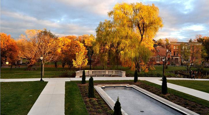 fall foliage in Congress Park