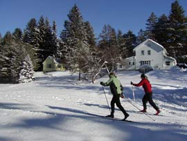 Cross country skiing in the Saratoga region