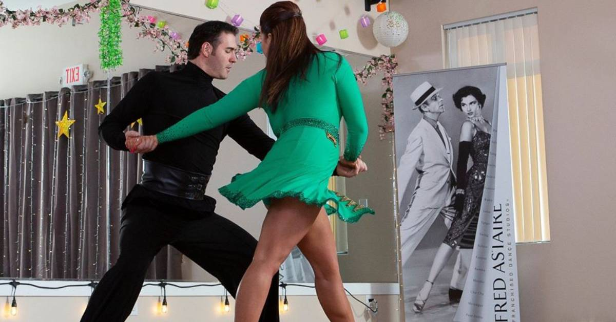 dance lessons with a man and woman