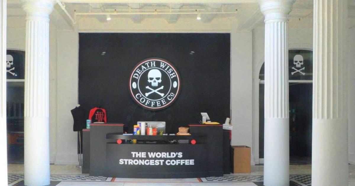 Death Wish Coffee lobby area