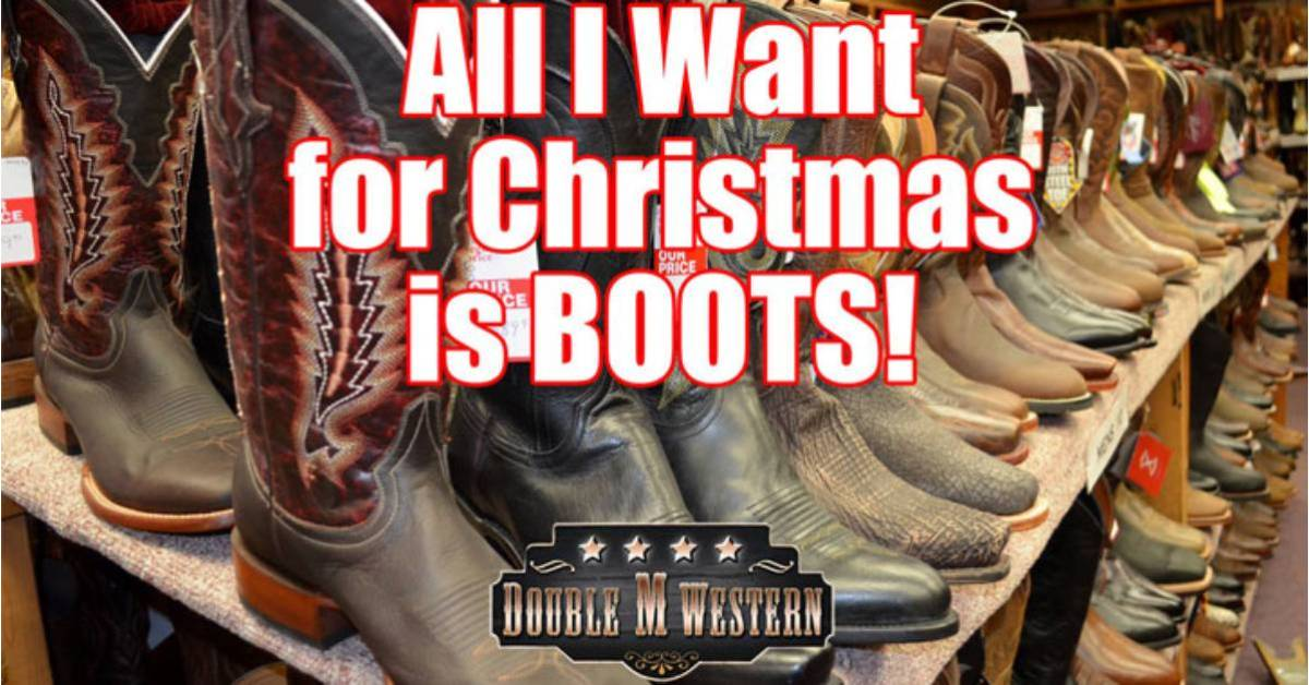 western boots with promo words on the image