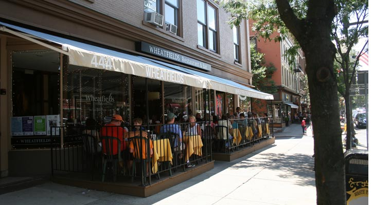 patio dining happening at Wheatfields