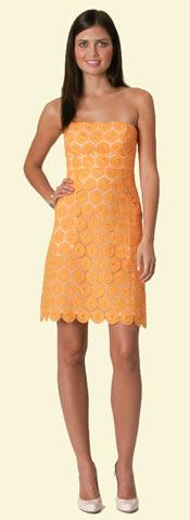 Shoshanna Strapless Eyelet Dress