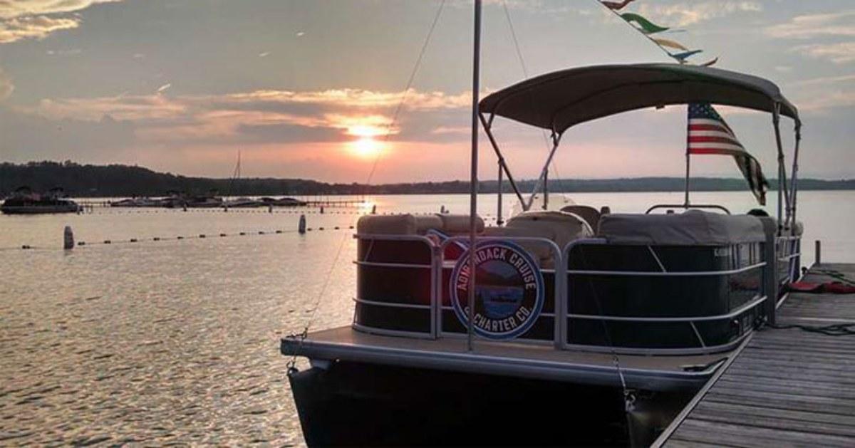 Adirondack Cruise and Charter boat docked