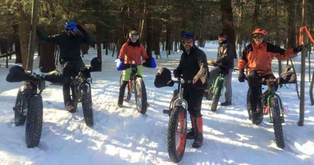 group of fat tire bikers