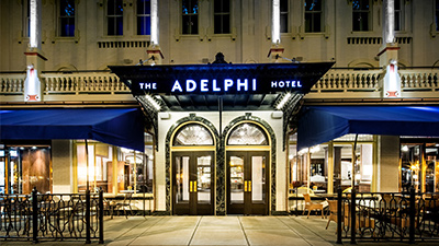 exterior of the adelphi hotel