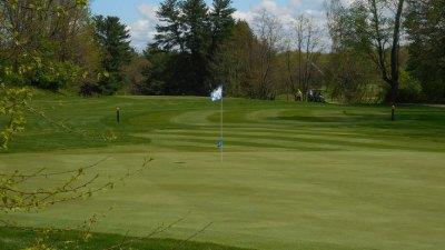 flagpole on golf course