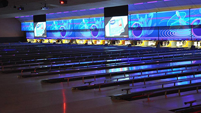 lanes at a bowling alley