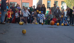 Pumpkin Race at Fall Festival in Downtown Saratoga