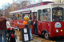 Free Trolley Rides at Fall Fest in Saratoga Spring NY