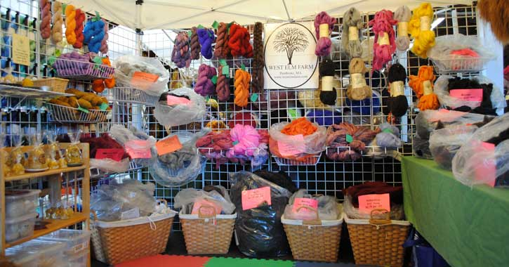 wool arts vendor display