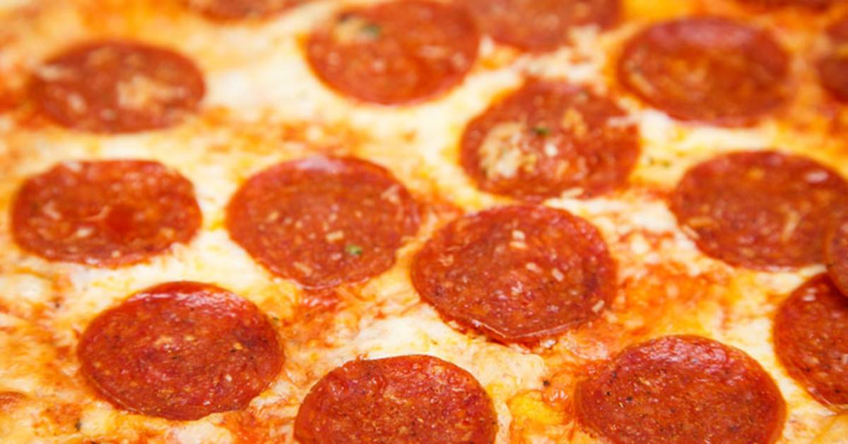 close view of pepperoni pizza