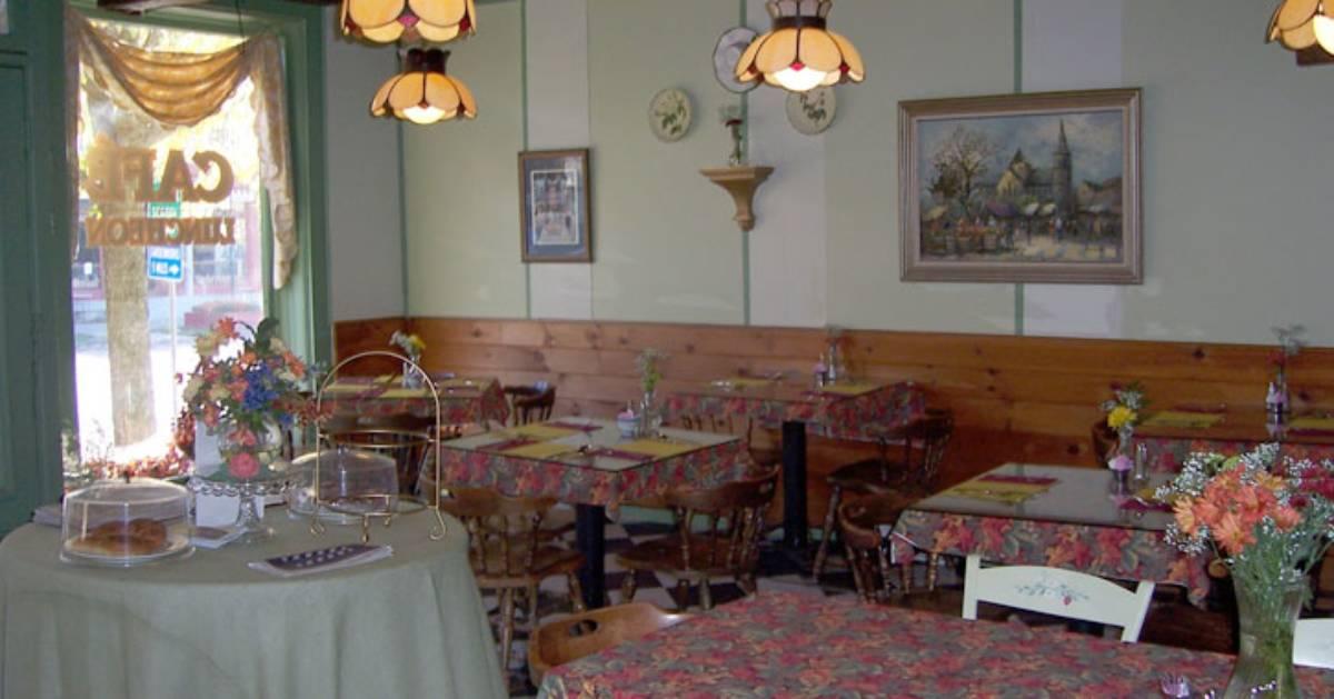 inside an empty restaurant