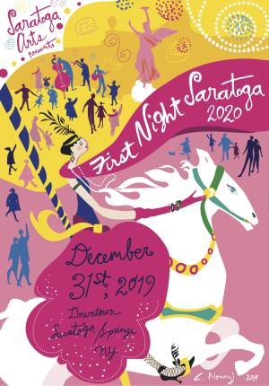 Saratoga First Night 2020 poster