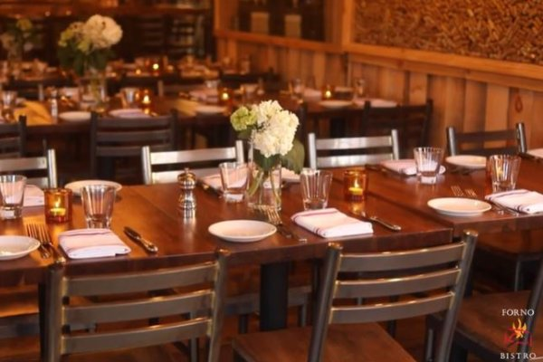 a dining room table in a restaurant