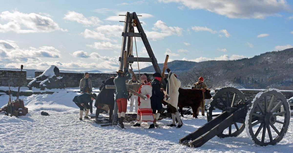 interpreters at fort ticonderoga in the winter
