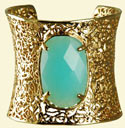 Kendra Scott Gold Cuff with Chalcedony Accent