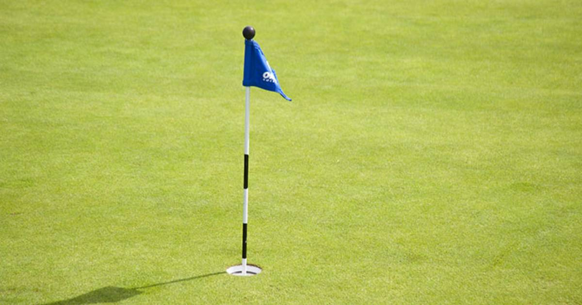 golf hole flag pole