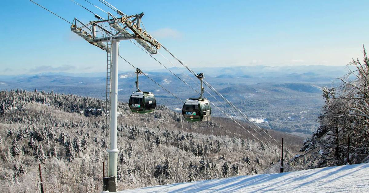 Gore's gondola in the winter