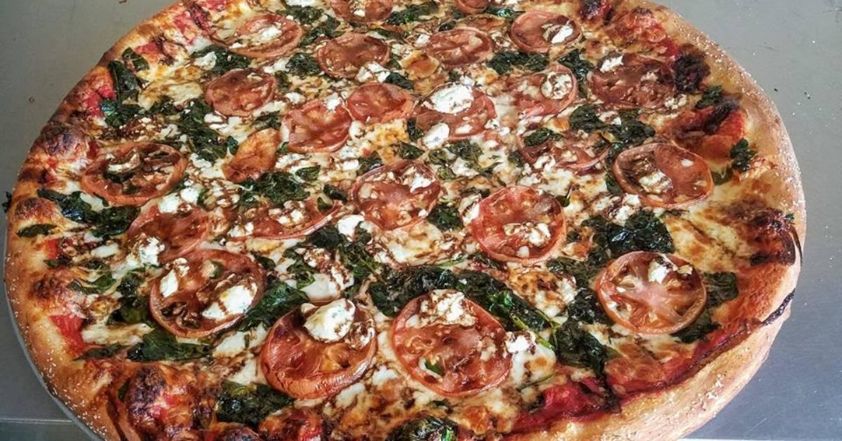 gourmet looking pizza