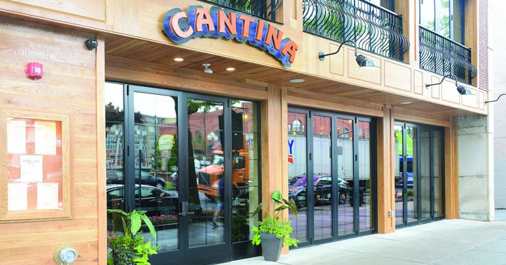 outside of Cantina restaurant
