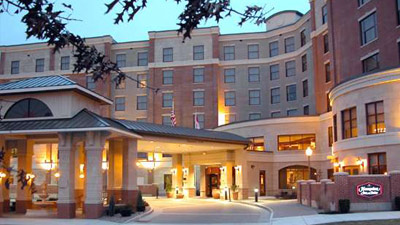exterior of the hampton inn