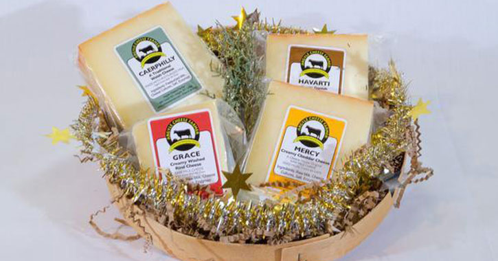 Top local 2017 gifts for saratoga the capital region sampler basket of 4 tasty farmstead cheeses negle Image collections