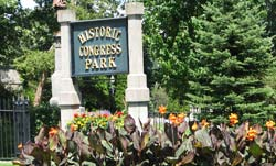 Historic Congress Park Sign