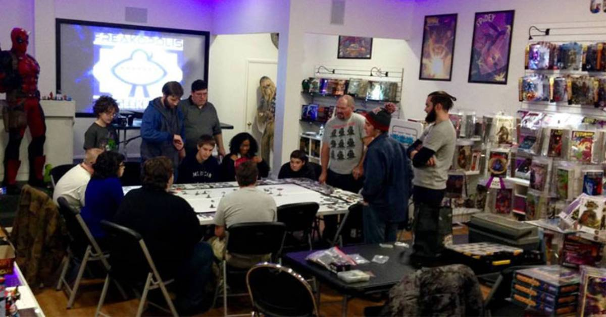 people playing a tabletop game