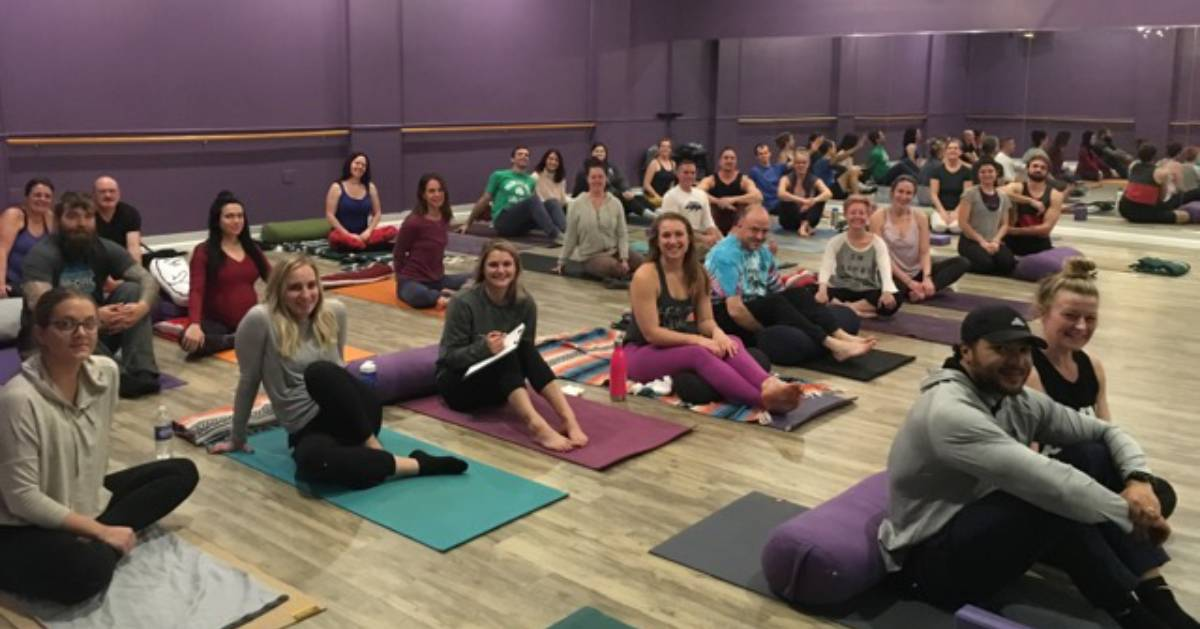 yoga class group