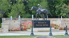 saratoga springs welcome horse statue