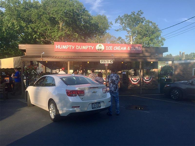 humpty dumpty ice cream and subs