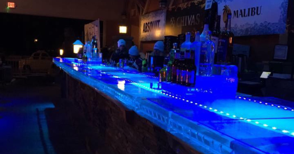 round lake ice bar