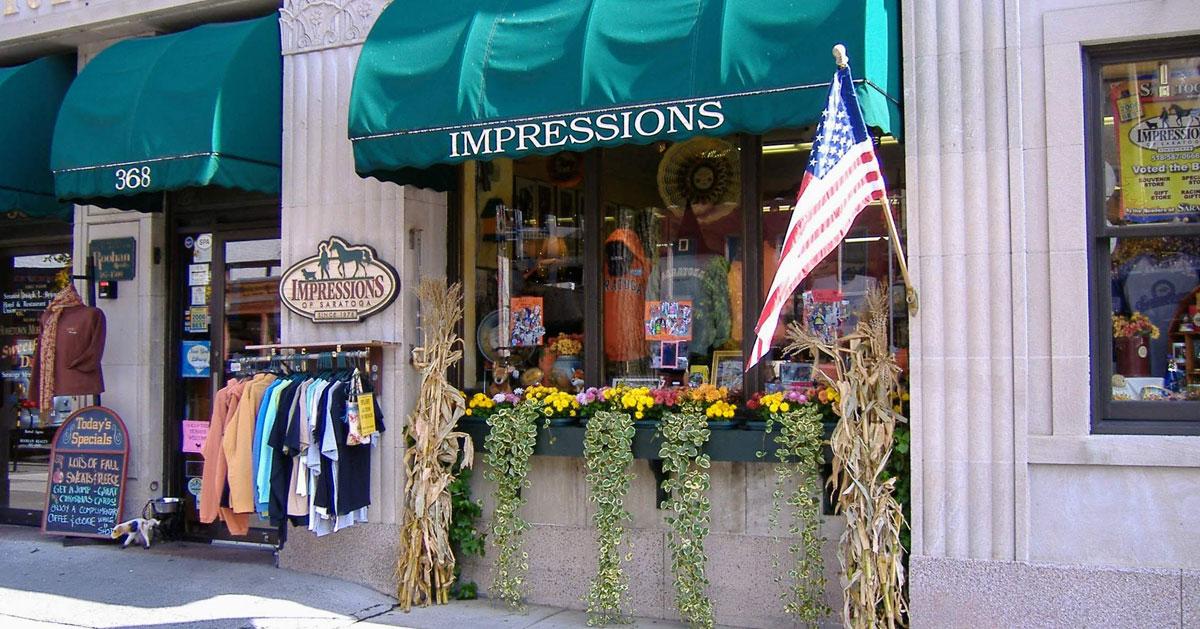 Impressions of Saratoga storefront