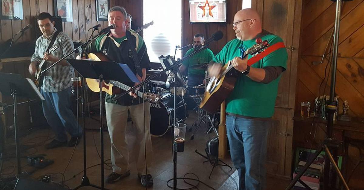 irish band on small stage