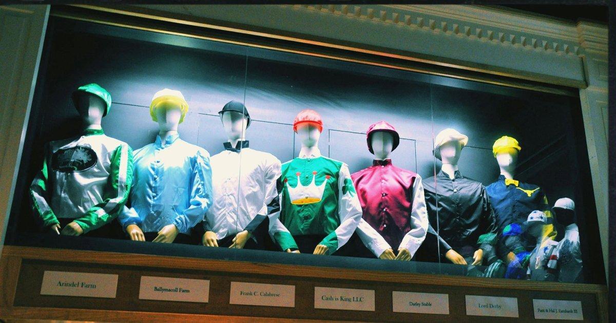 a jockey outfit display