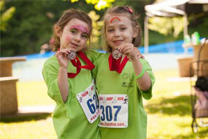 two little girls at Fun Run