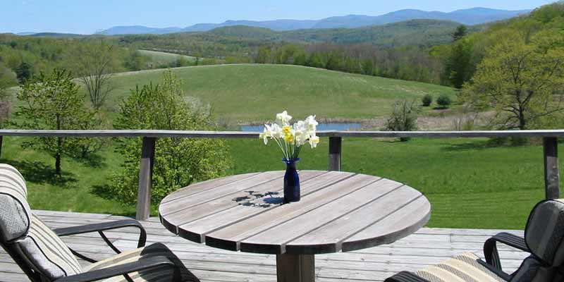 view of countryside from a deck