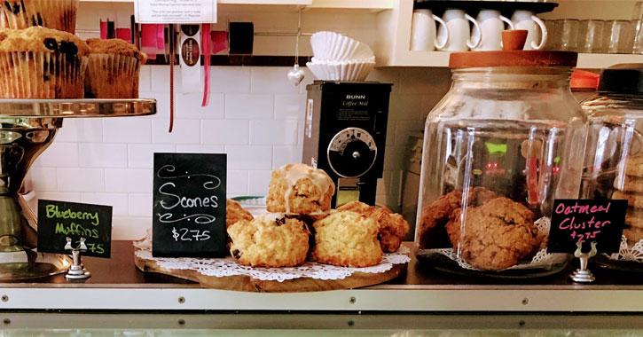 a bakery display case
