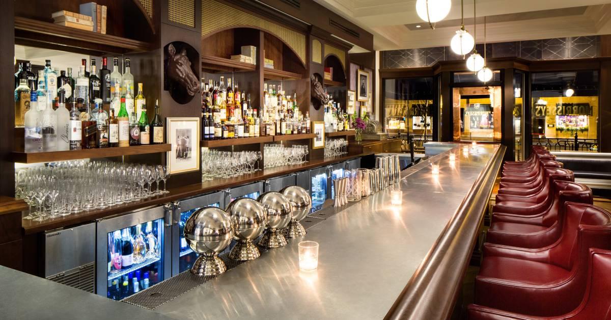 inside a bar area