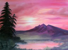 mountainscape painting