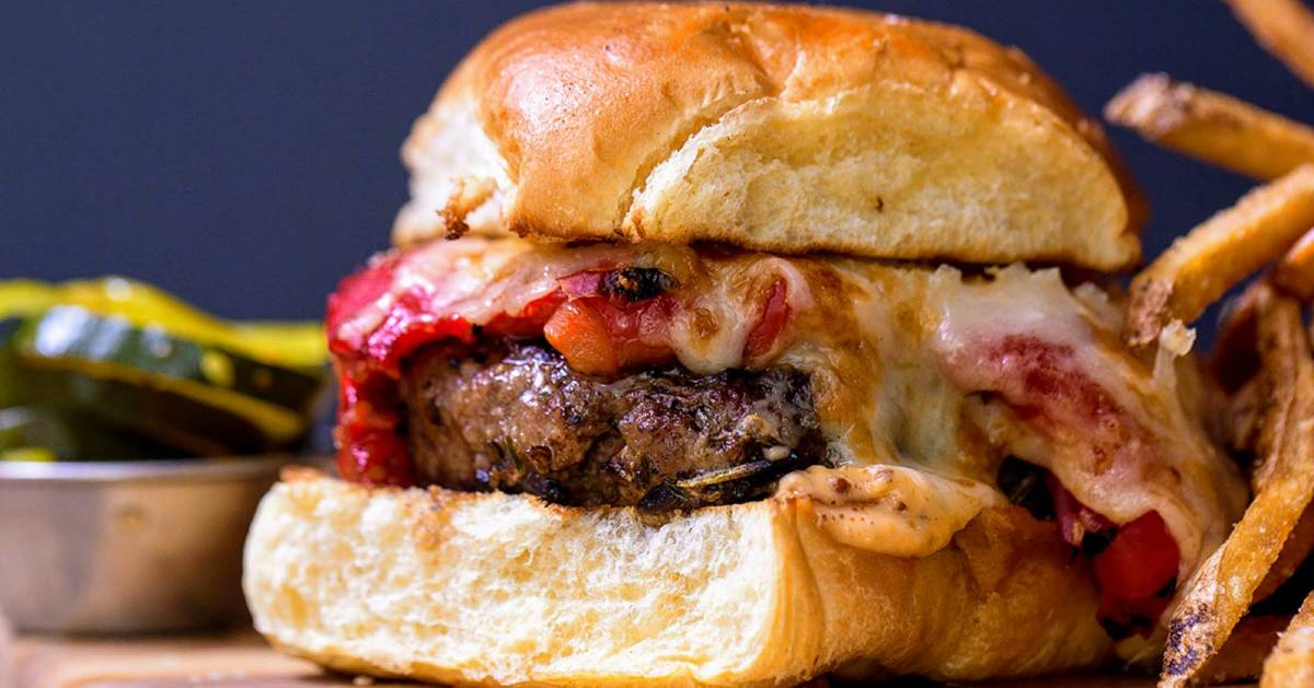 juicy burger with cheese