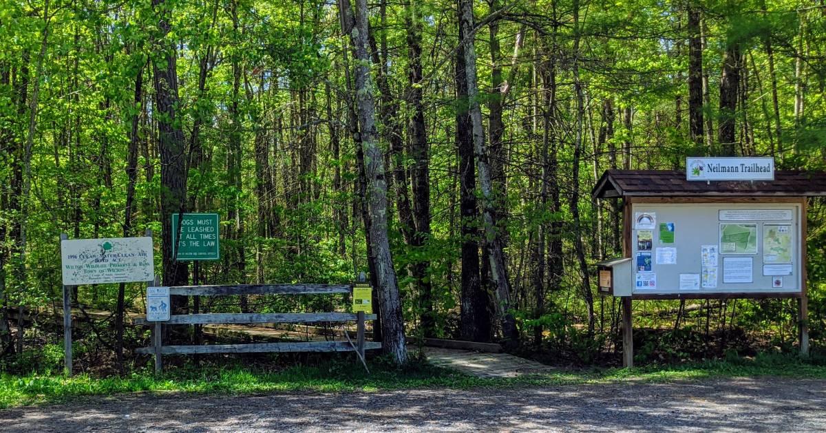 trail entrance and trailhead