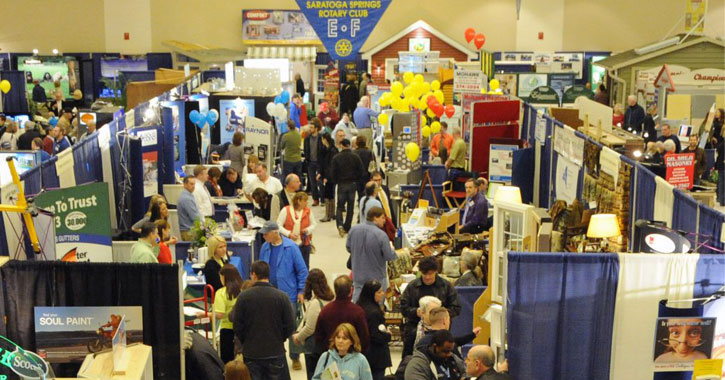 crowd of people at a home and lifestyle show