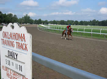 Thoroughbred Training At Saratoga Race Course