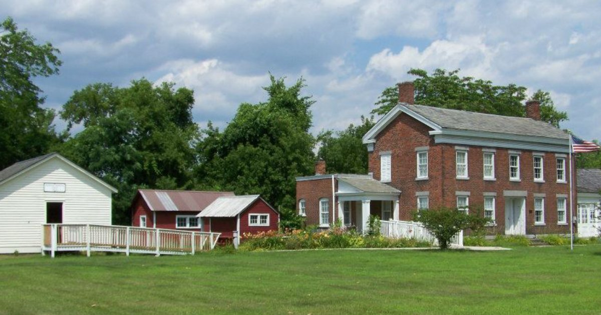 historic house and buildings near it